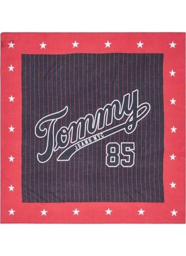 Tommy Hilfiger Kadın Tjw Logo Square Şal AW0AW05997 Renkli